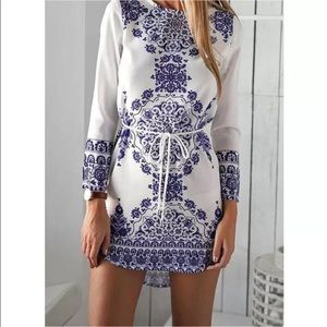 Mandala high/low dress